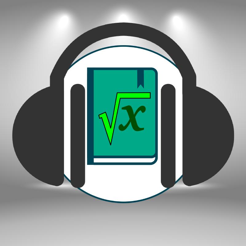 Un livre de mathématiques écoute de la musique avec un casque audio.