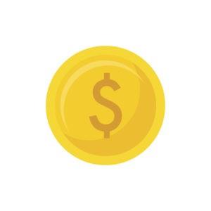 Pièce de monnaie pour calculer la probabilité du Lancé de pièce.
