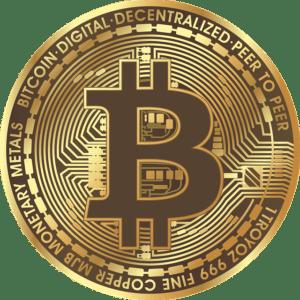 Pièce de Bitcoin. Calculer la probabilité du lancé de la pièce de monnaie