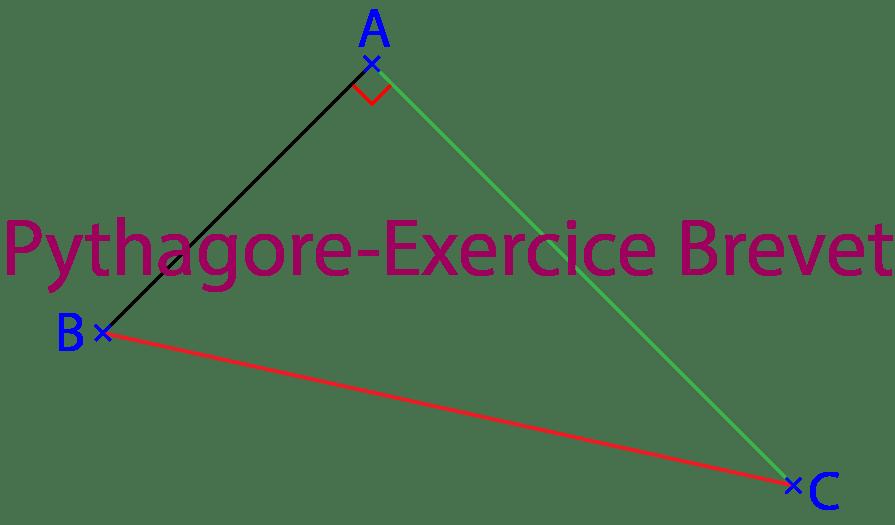 Theoreme de Pythagore exercice 3eme de type Brevet
