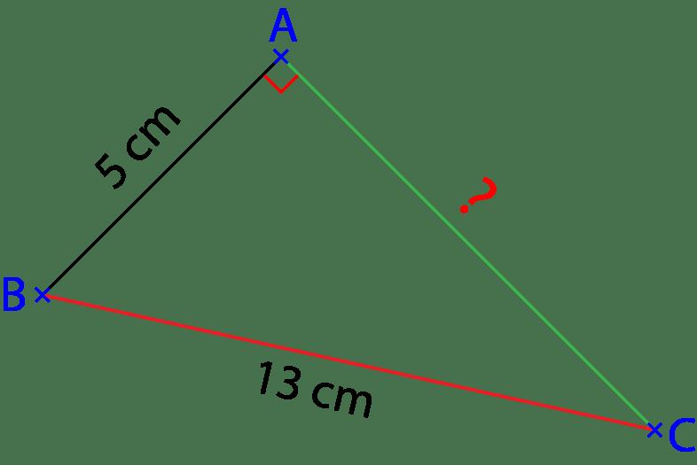 Triangle rectangle. Exercice sur le théorème de Pythagore.