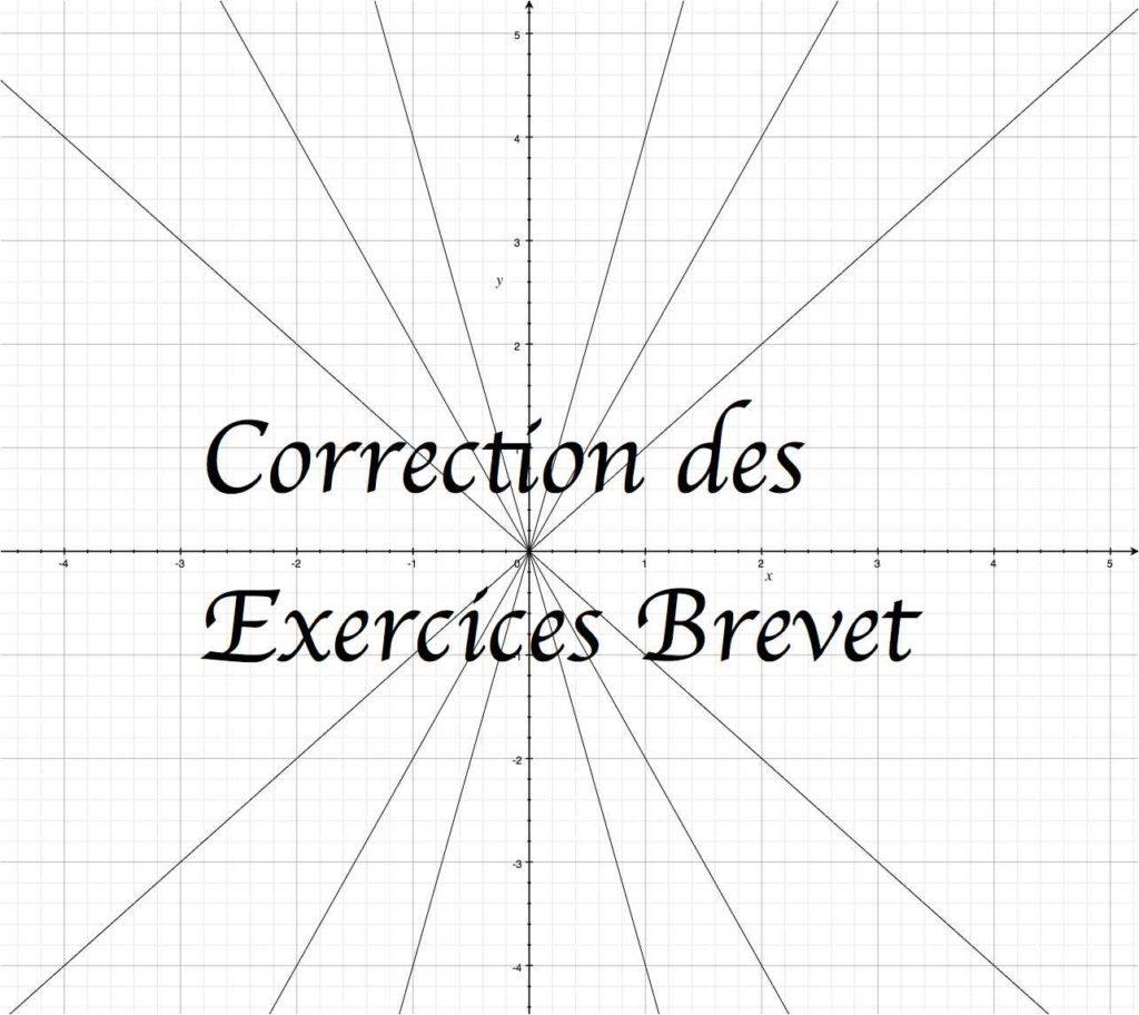 Correction des exercices de type brevet sur les fonctions linéaires.