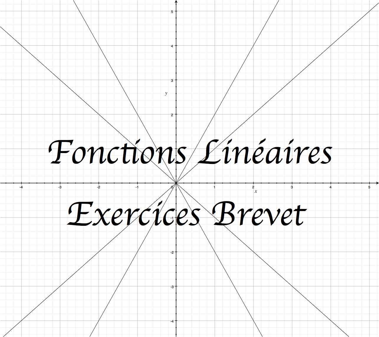 Exercices corrigés exclusifs sur les Fonctions linéaires !